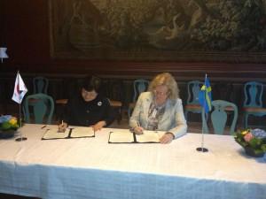 Signing of memorandum of understanding