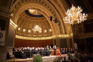Installation of professors and conferment of prizes.