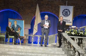 Eva Åkesson, Peter Wallensteen and Ban Ki-Moon, Dag Hammarskjöld lecture 2016.