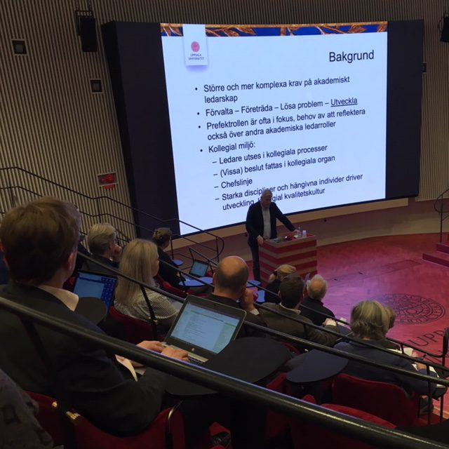Deputy Vice-Chancellor Anders Malmberg's presentation in the Humanities Theatre.