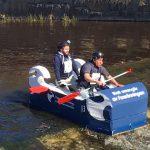 River raft on the Fyris River.