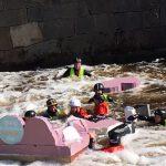 River rafts on the Fyris River.